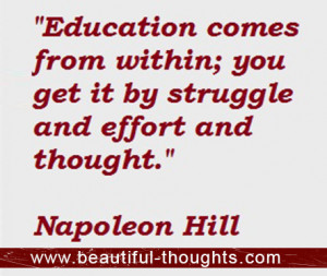 Education Comes From Within You