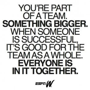 Inspirational team quote!