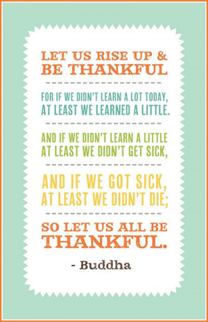 Thankful Tuesday: Be thankful for your life