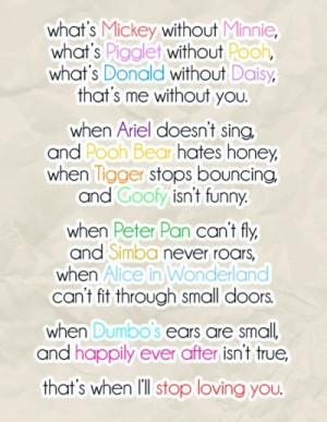 cute, disney, love, quotes, sayings, sweet