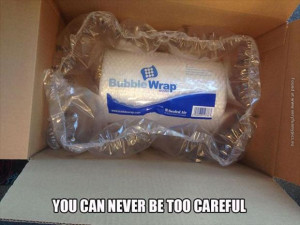 Bubble wrap wrapping