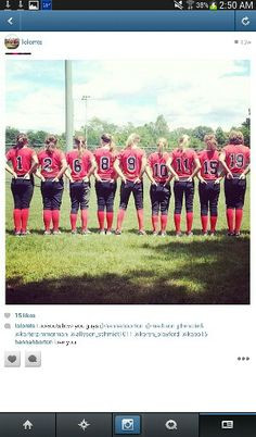 Cute Softball Team Quotes Cute softball team picture