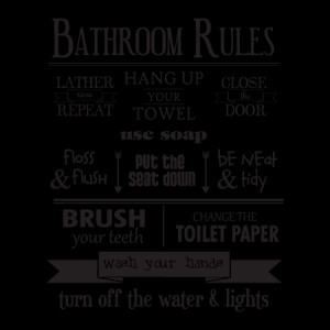 Bathroom Rules Wall Quotes™ Decal