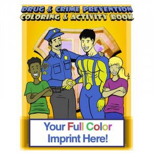 Police Drug and Crime Prevention Coloring Book