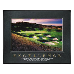 Excellence Golf Motivational Poster (734896)