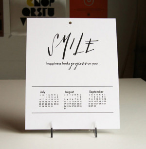 quotes. With this calendar, Steel Petal Press invites us to star each ...