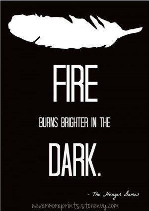 The Hunger Games - Typography - Quote