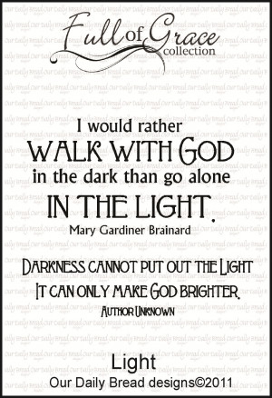 ... collection which includes two powerful quotes about the light of god