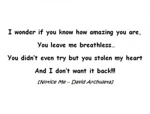 ... for this image include: song, david archuleta, love, Lyrics and quote