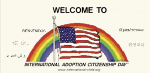 Welcome to international adoption Citizenship day