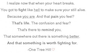 Tree Hill QuoteTrees Hills 3, Hills Quotes, Lyrics Quotes, One Tree ...