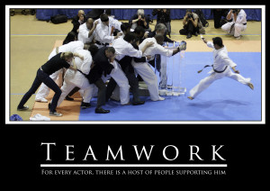 Teamwork, For Every Actor, There Is A Host Of People Supporting Him ...