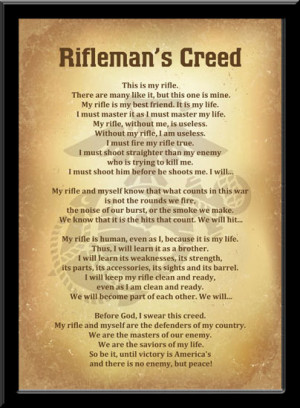 Military going away plaque quotes quotesgram - Rifleman 39 S Creed