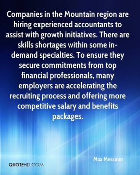 Max Messmer - Companies in the Mountain region are hiring experienced ...