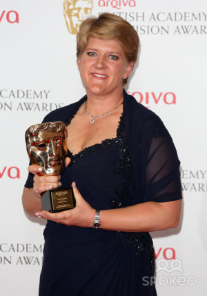 Clare Balding in the press room at the TV BAFTA Awards 2013, Royal ...