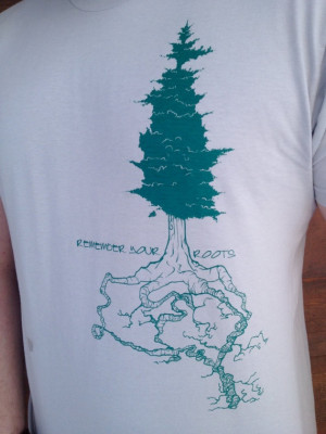Men's Remember Your Roots Alaska New Silver by LucasElliottArt, $25.00