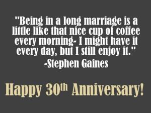 30th Wedding Anniversary Quotes