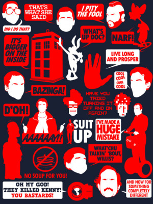 18 catchphrases from 18 different TV Shows on one shirt. Do you know ...