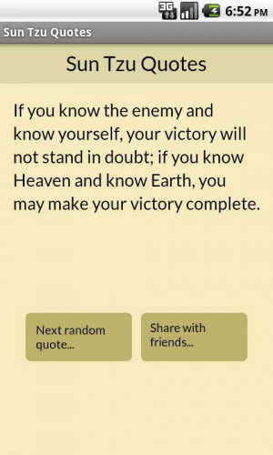 Sun Tzu Quotes - screenshot