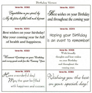... message of your birthday card more printable birthday verses birthday