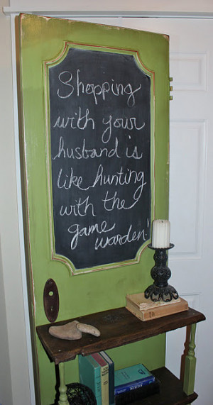 You are here: Home › Diy Home Decor › Old door + chalk paint ...