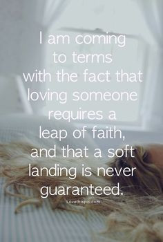... that's what people do... they leap and hope to God they can fly! More