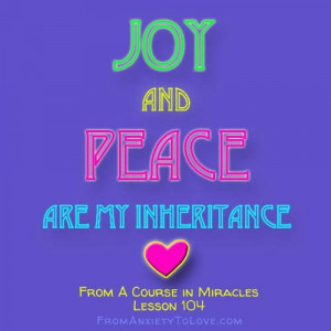 Course in Miracles-This is your natural inheritance, so get yours!