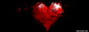 Black Red Heart Facebook Covers