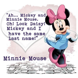 Week 3: Minnie Mouse Quote