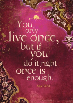 ... Live Once Birthday Cards, 2 Card Set, Mae West, Multicolored (14168