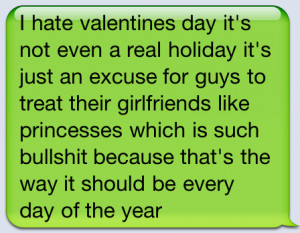 Love Quote : I Hate Valentine's Day
