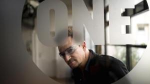 Bono, Co-founder of the organization 'One', Irish musician ...