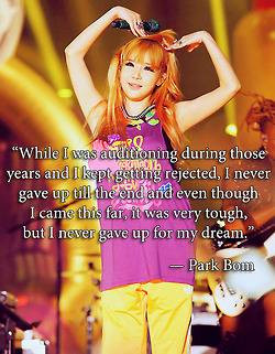 Park Bom quote! - 2ne1 Picture