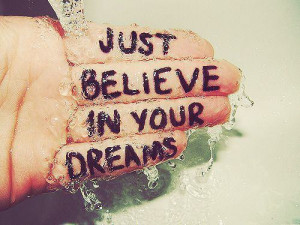 believe, dreams, hand, photography, quote, water