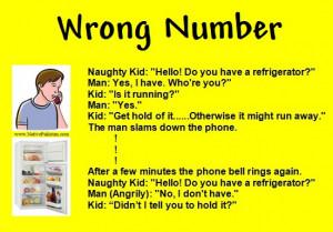 ... Naughty Kids Jokes - Wrong Number - Naughty Kids Jokes in English