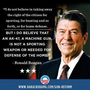 Barack Obama - 2013 - Gun Control Reagan