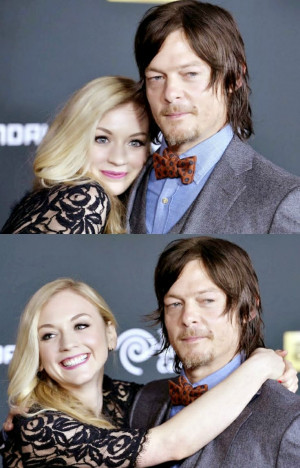 Emily Kinney And Norman Reedus Kiss