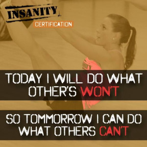 ... do what other's CAN'T DO! You finished Insanity!! #Insanity #workout