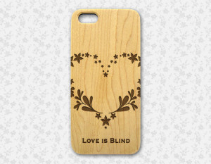 iphone 4 Love Quote Case, engraved natural wood iphone 4s 5s 5C case ...