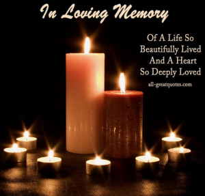In Loving Memory Cards – In Loving Memory Of A Life So Beautifully ...