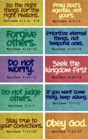 Teachings in Book of Matthew.