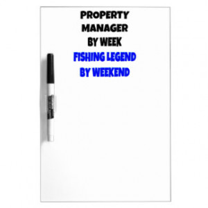 Fishing Legend Property Manager Dry Erase Whiteboards