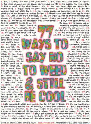 just say no to drugs slogans: Sayings No To Weed, Ideas, Funny Things ...