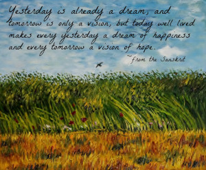 wheat field with poppies and a lark vincent van gogh image with quote ...