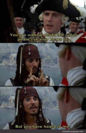 Funny movie scene from the popular hit Pirates of the Caribbean: The ...