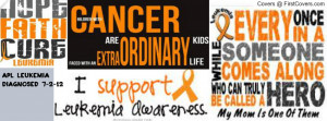 Leukemia Awareness Facebook Covers