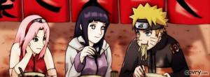 Haruno Sakura, Hyuuga Hinata And Naruto Uzumaki facebook cover