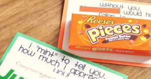 Fun and cute sayings to do with candy bars–Teen Volunteer Thank Yous