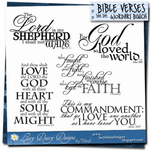 Today's bunch for sale, bible verses: