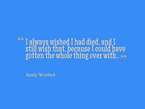 Andy Warhol quotes in pictures: